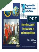 Derechos Salud Intercultural y Polticas p Ublicas Maria Edith Baca Cabrejos Peru