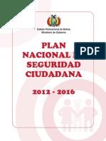 Plan Nacional de Seguridad Ciudadana 2012- 2016