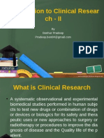 Introduction to clinical research II