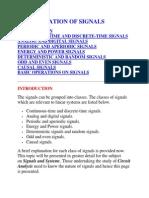 Classification of Signals