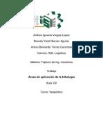Areas de Aplicacion de La Tribologia
