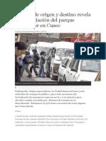 Estudio de origen y destino revela sobrepoblación del parque automotor en Cusco