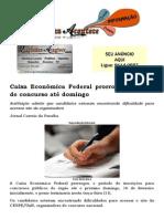 Caixa Econômica Federal prorroga inscrição de concurso até domingo