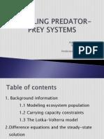 Modeling Predator Prey Systems Fin