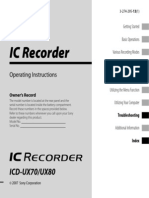 Sony IC Recorder Manual