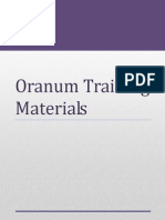 Oranum Training Materials 2013 April