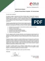 Carta CELS Al Comite DDHH LOIPR Argentina