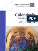 conferencia episcopal española - calendario liturgico 2014