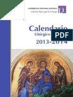 conferencia episcopal española - calendario liturgico 2014