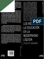 124293547 Los Retos de La Educacion en La Modernidad Liquida