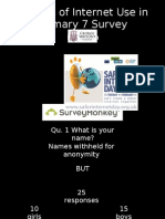 Results of Internet Use Survey P7H