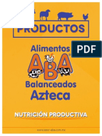 ABA Alimentos Balanceados Azteca Folleto 2014