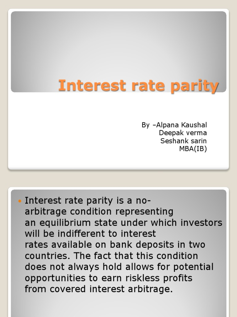 interest rate parity condition
