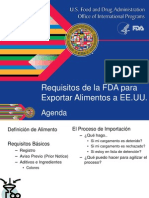 Requisitos FDA Para Exportacion