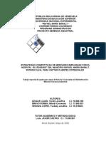 Estrategias Competitivas de Mercadeo Hospital El Rosario I