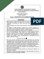 2013 PROVA D - ASSISTENTE EM ADMINISTRAÇÃO (1)