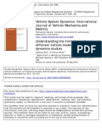 Understanding the Limitations of Different Vehicle Models for Roll Dynamics Studies