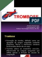 Patologia Geral Aula 12 TROMBOSE