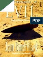 Baudrillard- The Transparency of Evil Essays on Extreme Phenomena 1993