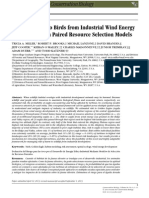 Assessing Risk to Birds from Industrial Wind Energy Development via Paired Resource Selection Models