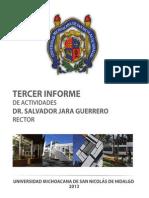 Tercer Informe UMSNH 2013