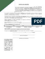 Carta de Adesão SUB 17
