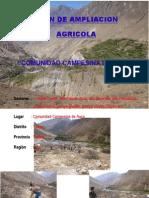 REFORMULACION DEL PLAN DE AMPLIACION AGRICOLA 1° ETAPA - COMUNIDAD CAMPESINA DE AUCO