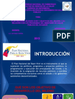 Plan Nacional Del Buen Vivir y Los Objetivos Del Milenio