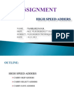 High Speed Adders