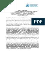 LA RUE, Frank et al. - Declaración conjunta de los cuatro relatores de la libertad de expresión