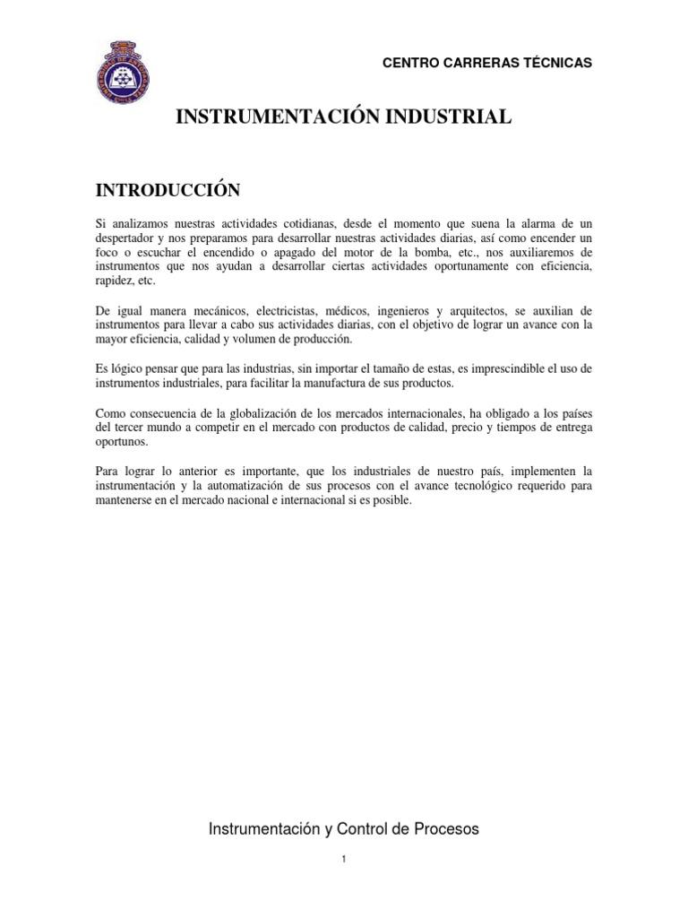 Instrumentacion Industrial Instrumentos y Control Diagramas de ...