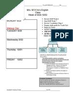 Agenda Week 8