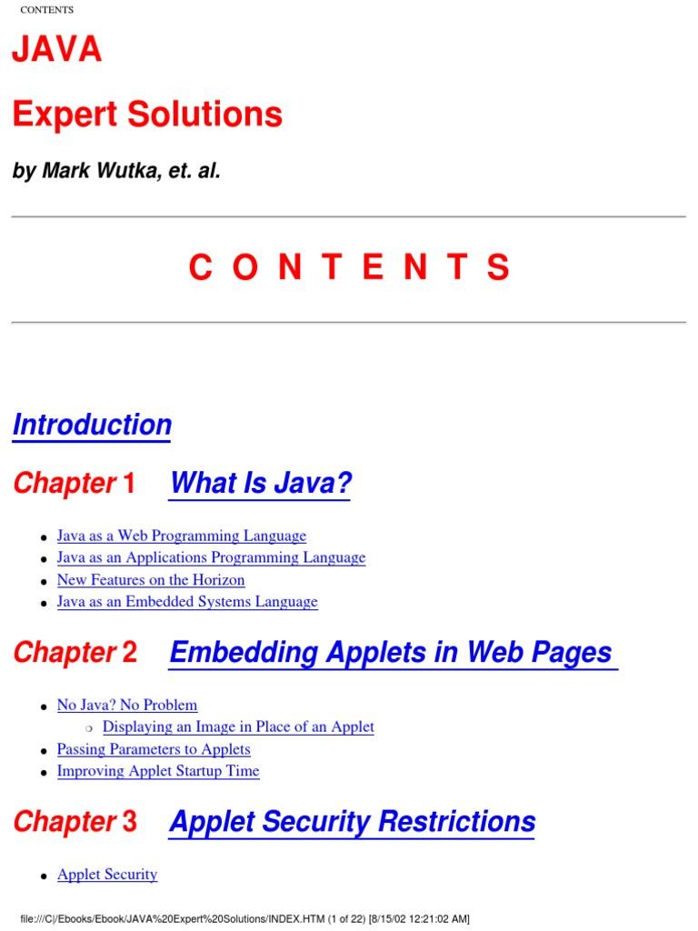 Java expert solutions java programming language hypertext java expert solutions java programming language hypertext transfer protocol fandeluxe Images