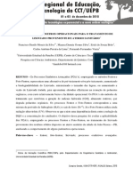 TRABALHOS COMPLETOS EDITADOS - VI ENCONTRO  REGIONAL DE EDUCAÇÃO, CIÊNCIA E TECNOLOGIA DO CCT-UEPB