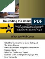 De-Coding the Common Core