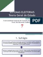 7. SISTEMAS ELEITORAIS