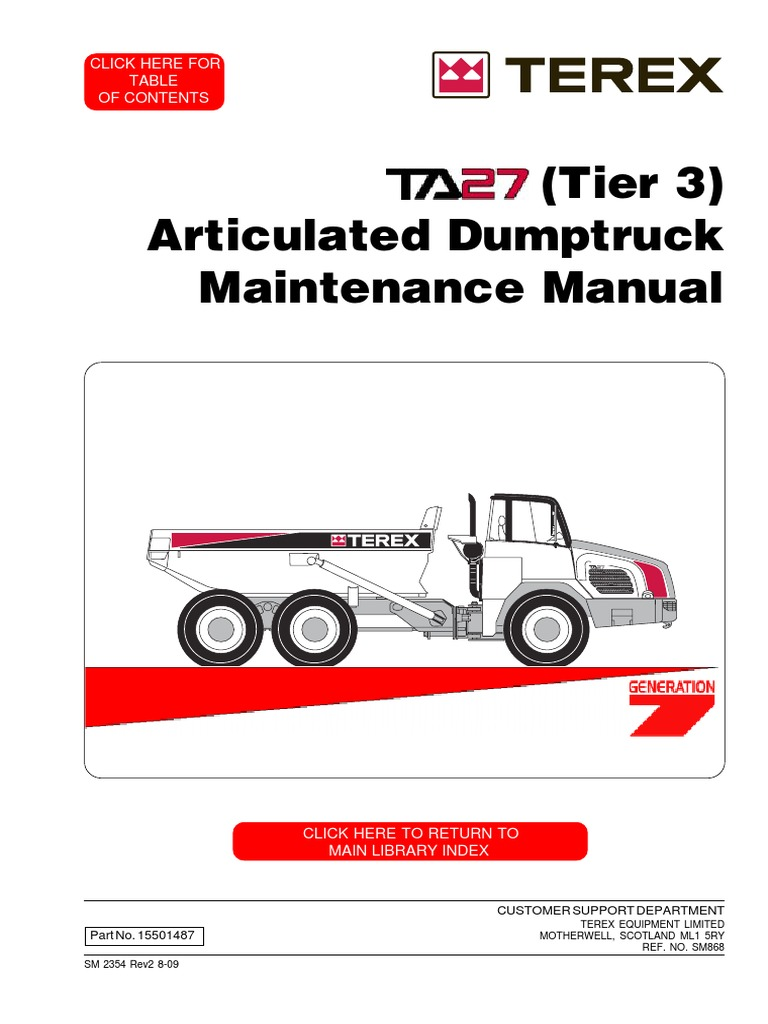 ta27 tier3 8681 automatic transmission welding rh scribd com Terex Dump Truck Terex Dozer