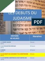 Les débuts du Judaisme
