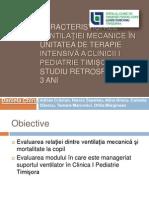Caracteristici ale ventilaţiei mecanice TG M URES 2013
