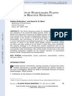 An Overview of Starch-Based Plastic Blends From Reactive Extrusion
