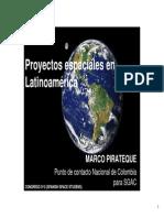 Proyectos Espaciales en Latinoamerica