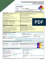 Alcohol Isopropilico -----Hds Formato 13 Secciones, Qmax