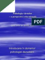 PSIHOLOGIA VÂRSTELOR