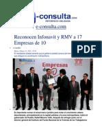 11-02-2014  e-consulta.com - Reconocen Infonavit y RMV a 17 Empresas de 10.pdf