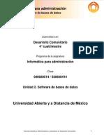 Informatica Para La Administracion Unidad 2