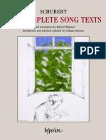 Schubert Lieder Letras traducidas al inglés
