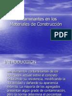 Conatminantes en Los Materiales de Construccion