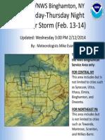 Winter Storm Briefing 02 12 14
