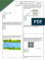 Avaliação Final de Matemática - 9ºA