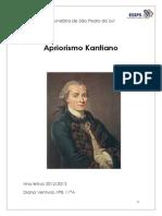 Apriorismo Kantiano- Trabalho Escrito